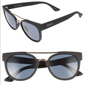 Quay Australia Odin Sunglasses Black/Smoke